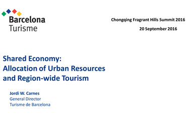 Shared Economy: Allocation of Urban Resources and Region-wide Tourism