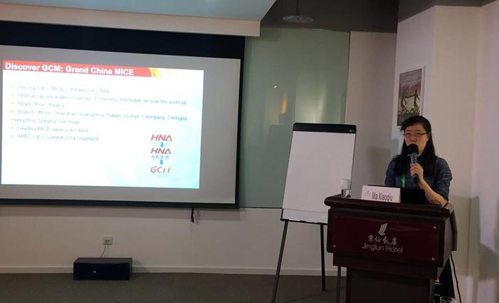 大新华会展控股有限公司联合创始人马晓秋女士为学员带来了关于MICE旅游的主题课程