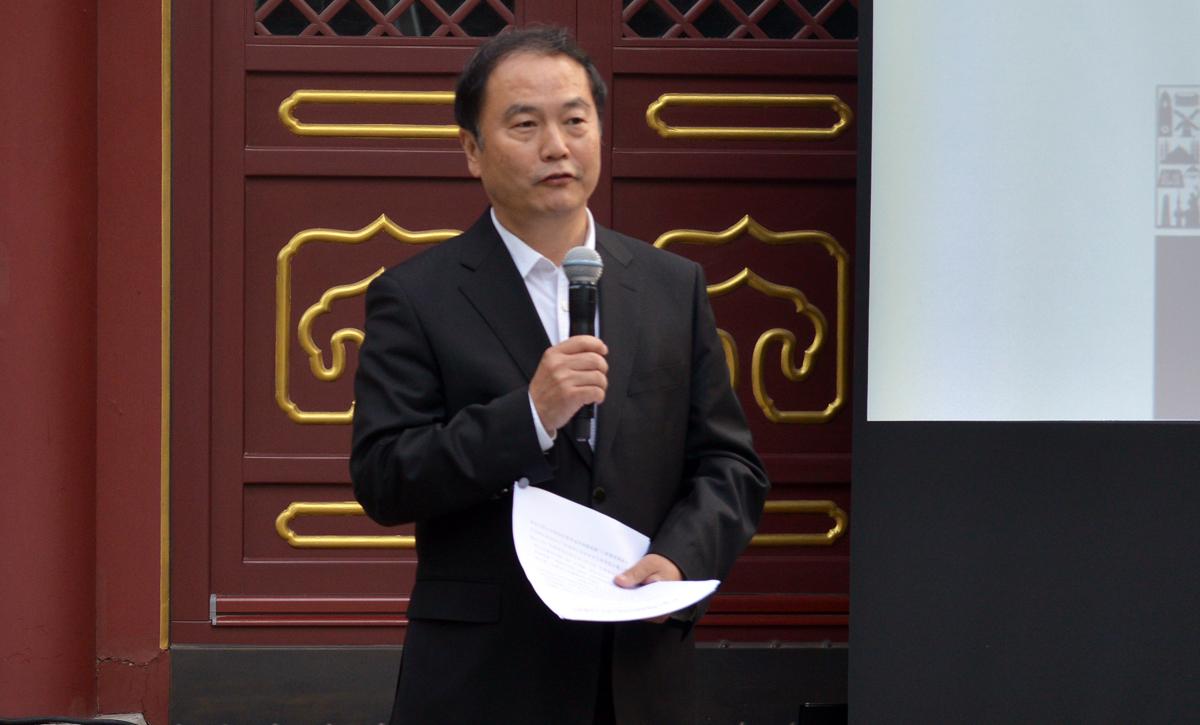 结业典礼上联合会秘书长宋宇讲话