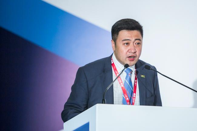 Yan Han, Deputy Secretary-General of WTCF, delivers keynote speech