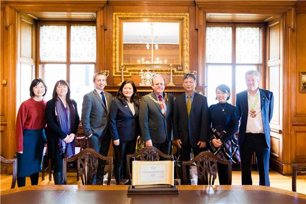 WTCF Delegation Meets Edinburgh Mayor Frank Ross