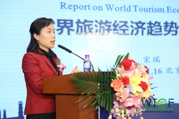 Song Rui, Director of TRC-CASS, and WTCF Special Expert, released the main research results in the Report
