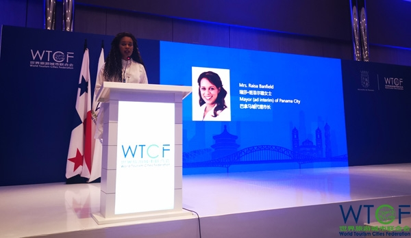 Mrs. Raisa Banfield, Acting Mayor of Panama City, delivered a welcome speech