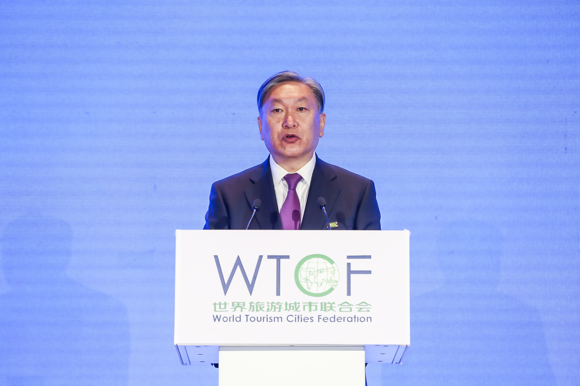 Chen Dong, Secretary-General of World Tourism Cities Federation (WTCF) and  General-Director of Beijing Municipal Bureau of Culture and Tourism, releases Action Guide on Recovery and Revitalization of City Tourism amid COVID-19.