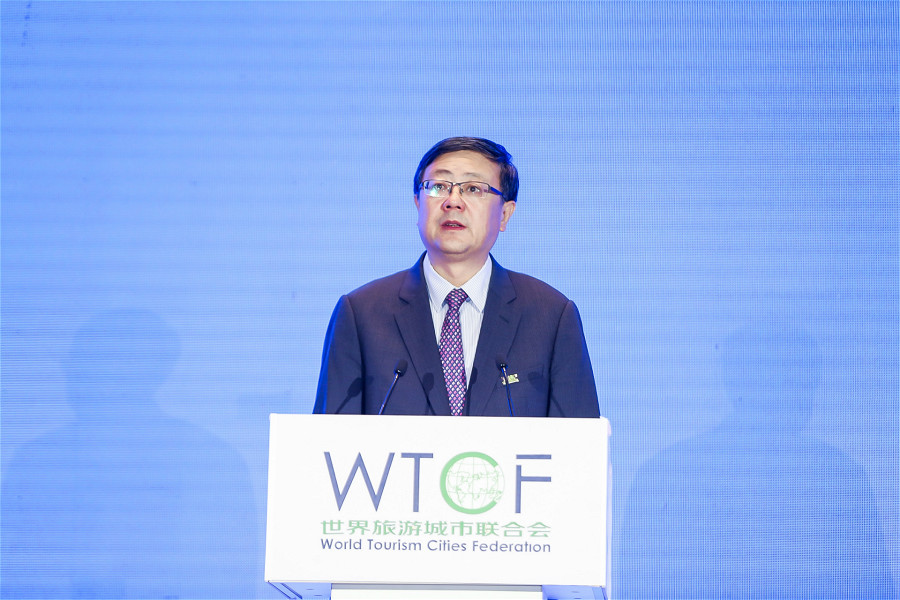 Chen Jining, Chairman of the WTCF Council and Mayor of Beijing.