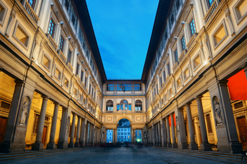 Florence: Admire the Literary Atmosphere of Uffizi Gallery